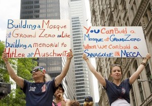 mosque protesters